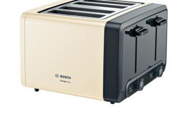 Bosch TAT4P447GB DesignLine 4 Slice Toaster - Cream