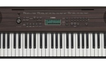 Yamaha PSR-E360 Dark Wood Keyboard
