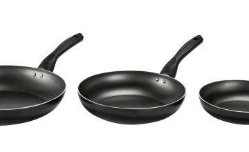 Argos Home 3 Piece Teflon Frying Pan Set