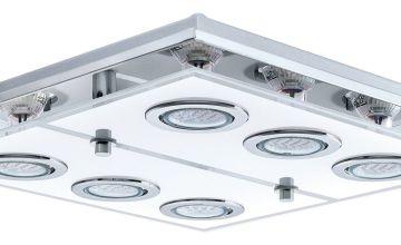 Eglo Cabo Large 6 LED Ceiling Light - Chrome