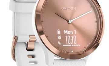 Garmin Vivomove HR Smart Watch - Rose Gold and White