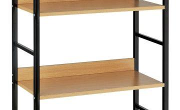 Argos Home 4 Tier Metal & Oak Effect Shelf Unit