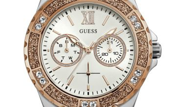 Guess Ladies White Silicone Strap Watch