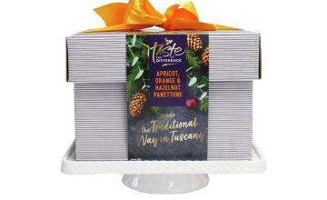 Cake Stand & Christmas Panettone Cake Set