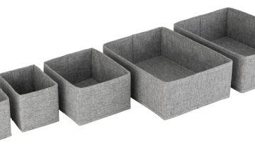 Argos Home 5 Piece Set of Drawers Storage - Grey