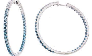 Revere Sterling Silver Cubic Zirconia Hoop Earrings