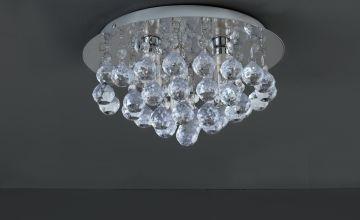 Argos Home Reina Droplets Flush Ceiling Light - Chrome