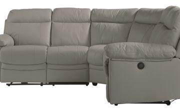 Argos Home Paolo Corner Leather Mix Power Recline Sofa -Grey
