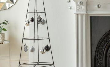 Argos Home 5ft Metal Space Saving Christmas Tree