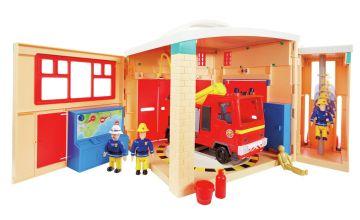Fireman Sam Fire Station and Engine