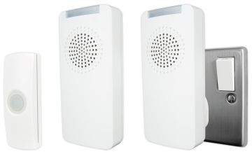 Uni-Com Premium Portable and Plug-in Doorbell Set