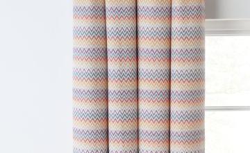 Argos Home Navajo Chevron Fully Lined Eyelet Curtains