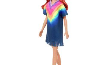 Barbie Fashionista Rainbow Dress Doll