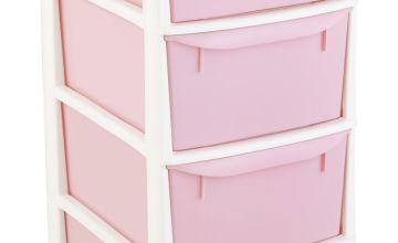 Argos Home 4 Drawer Tower - Pink