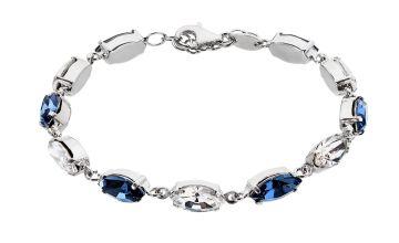 Revere Sterling Silver Blue Tone Crystal Bracelet