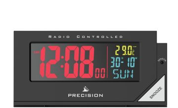 Precision Radio Controlled Colour Display Alarm Clock