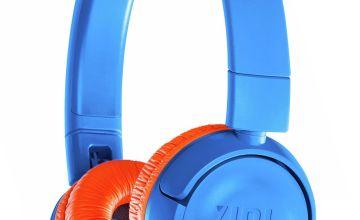 JBL JR300BT Kids Wireless On-Ear Headphones - Blue / Orange
