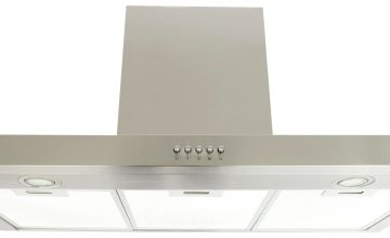 Bush BTCH90SS 90cm Chimney Cooker Hood - Stainless Steel