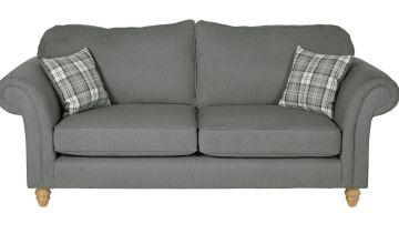 Argos Home Windsor 3 Seater Fabric Sofa - Light Grey