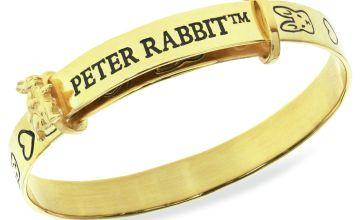 Beatrix Potter 9ct Gold Plated Peter Rabbit Expander Bangle