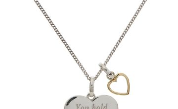 Moon & Back Sterling Silver/9ct Gold Plated Pendant Necklace