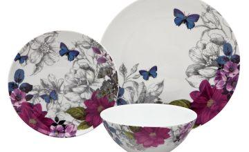 Argos Home Midnight Bloom Porcelain 12 Piece Dinner Set