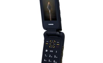 SIM Free HAMMER BOW+ Rugged Mobile Phone - Black