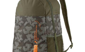 Puma Style 22L Backpack - Khaki Green