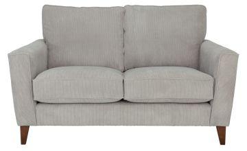 Argos Home Berlin 2 Seater Fabric Sofa - Silver