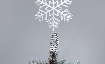 Argos Home Winters Hibernation Snowflake Tree Topper
