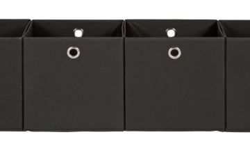 Argos Home Set of 4 Squares Boxes - Black