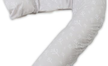 Dreamgenii Pregnancy Pillow - Floral Grey