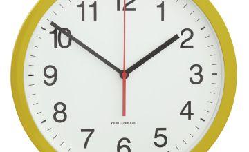 Argos Home Radio Controlled Wall Clock - Mustard