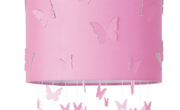 Argos Home Butterfly Cutout Shade - Pink
