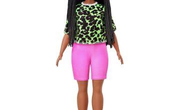 Barbie Fashionista Neon Leopard Shirt Dress