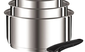 Tefal 4 Piece Stainless Steel Ingenio Saucepans and Handle