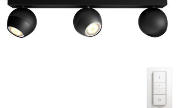 Philips Hue Buckram 230V Bar Ceiling Spotlights - Black