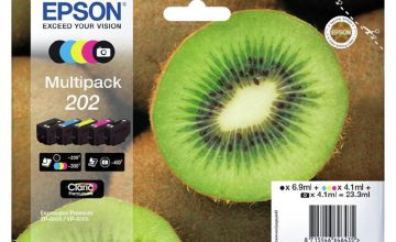 Epson 202 Kiwi Ink Cartridges - Black & Colour