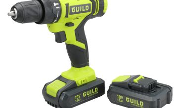 Guild 1.5Ah Combi Drill 2 Batteries & 100 Accessories - 18V