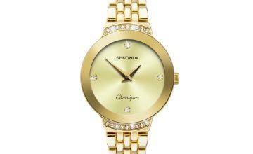 Sekonda Ladies Gold Stainless Steel Bracelet Watch