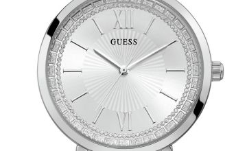 Guess Ladies Silver Stainless Steel Bracelet Watch