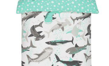 Argos Home Shark Bedding Set - Single