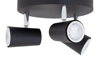 Argos Home 3 Light Spotlight Plate - Matt Black