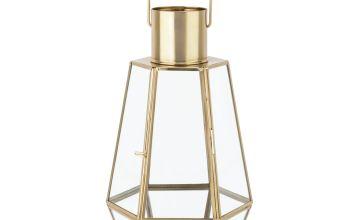 Argos Home Moorlands Small Lantern - Gold