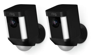 Ring Spotlight Battery Powered Camera - 2 Pack - Black