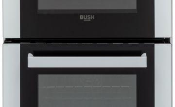 Bush DHBEDC50W 50cm Double Oven Electric Cooker - White