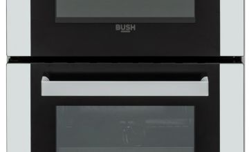 Bush BGC50DW 50cm Double Oven Gas Cooker - White