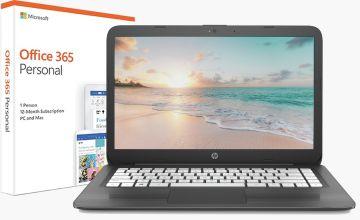 HP Stream 14 Inch AMD A4 4GB 32GB Cloudbook - Grey