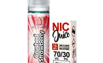 Aqua Vape Strawberries Shortfill Including Nic Shot