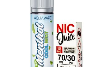Aqua Vape Menthol C Mint Shortfill Including Nic Shot